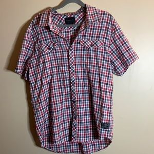 O'Neill Red & Black Button Up Shirt